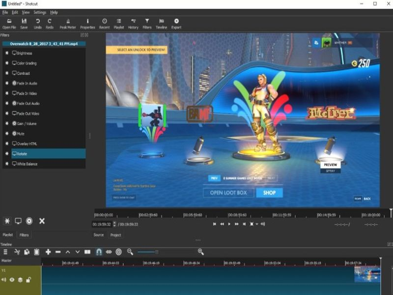Shotcut free video editor review 1